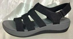 Clarks ARLA SHAYLIE Cloudsteppers Black/Gray Strappy Orthope