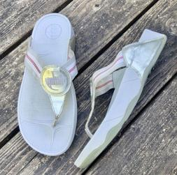 Gray / Silver Fitflop Orthopedic Comfort Thong Sandals Size