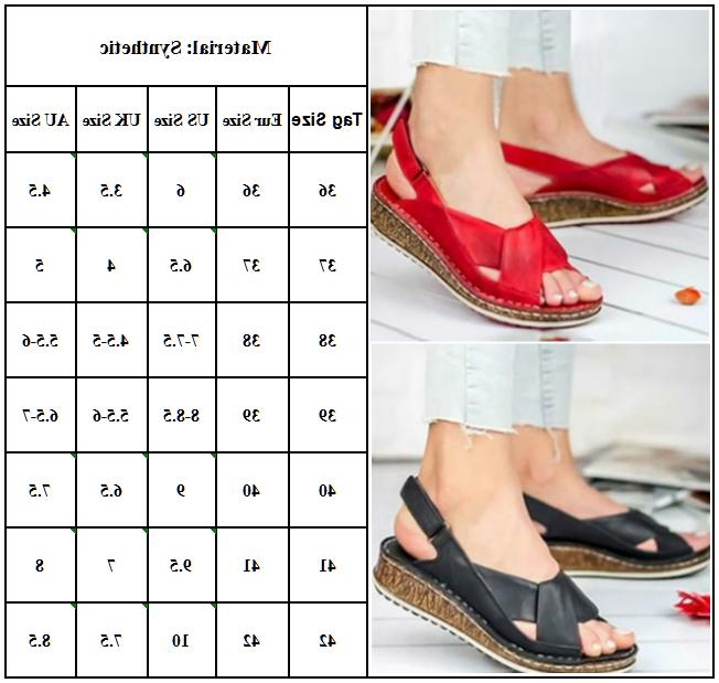 Women Orthopedic Sandals Casual Shoes Size