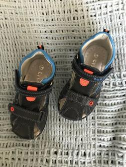 Leather, orthopedic sandals for toddler boy