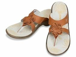 Spenco Rose Supportive Casual Sandals Tan Women Size 5