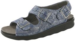 SAS Women's Shoes Relaxed Sandal Silver Blue 11 Wide FREE SH