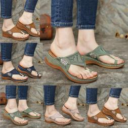 Womens Orthopedic Sandals Comfy Mules Summer Flip Flops Slip